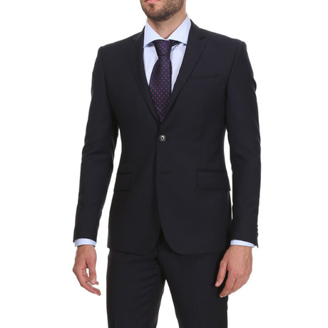 Slim Classic Suit // Navy Krijtstreep