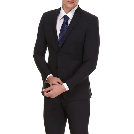 Slim Classic Suit // Black + White Check