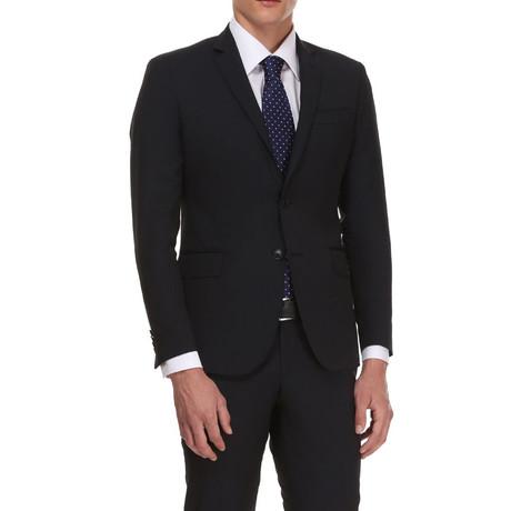 Slim Classic Suit // Black Grid