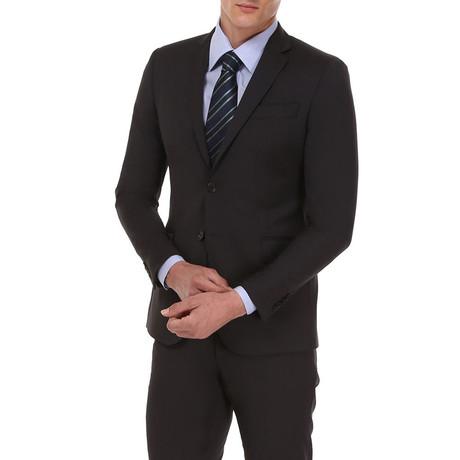 Slim Classic Suit // Black Krijtstreep