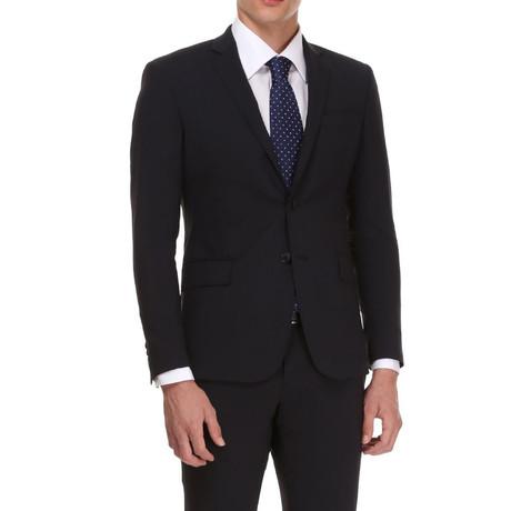 Slim Classic Suit // Blauw Zwart