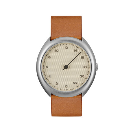 Slow O 07 Quartz // Silver Case + Creme Dial