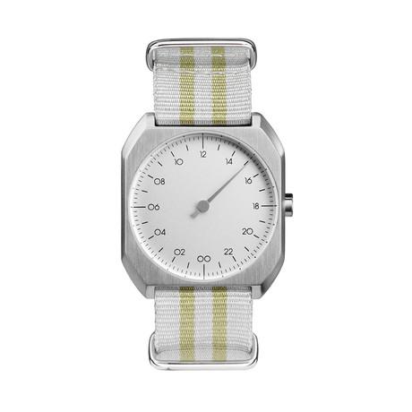 Slow Mo 13 Quartz // Silver Case + Silver Dial