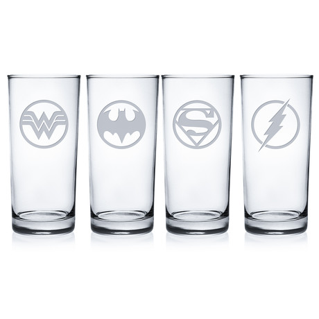 Superheroes 3 (Pint Glasses // Set of 4)