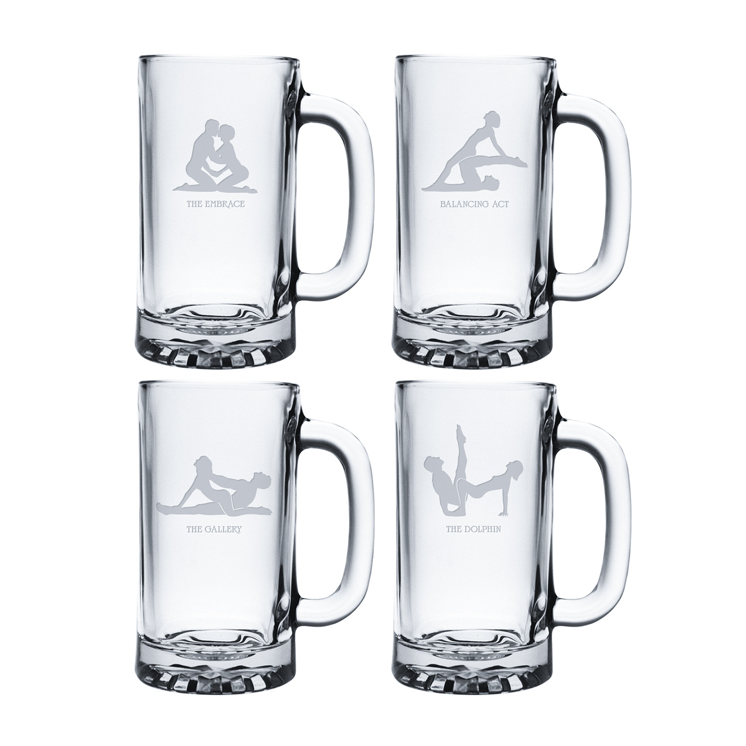 kamasutra  coolers      set of 4  - susquehanna glass