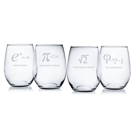 Numbers + Constants (Pint Glasses // Set of 4)