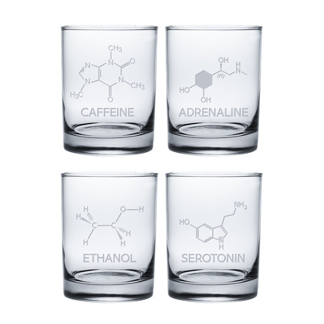 Chemical Compound (Pint Glasses // Set of 4)