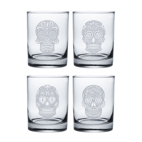 Dia De Los Muertos (Pint Glasses // Set of 4)