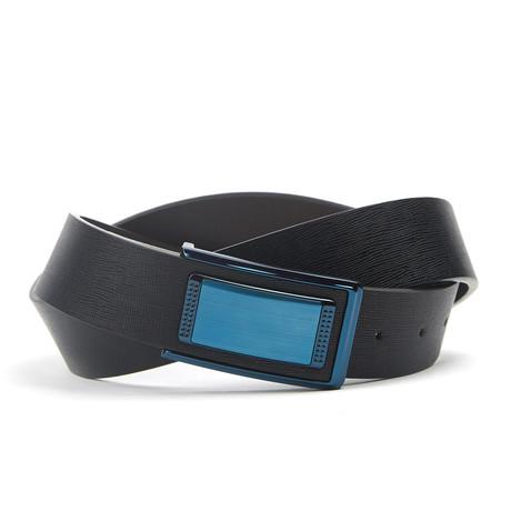 textuur Traditionele Belt // Black + Blue