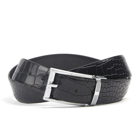 Snake accenten Traditionele Belt // Black