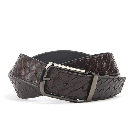 Traditionele Woven Belt // Dark Brown