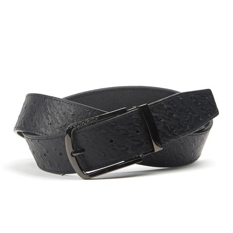 Vierkante Geweven Traditionele Belt // Black