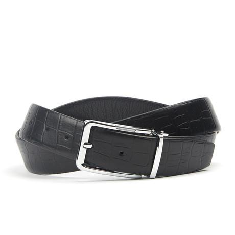 Traditionele Crocodile Belt // Black