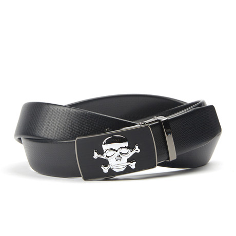 Skull Track Belt // Midnight