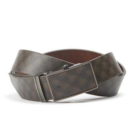 Track Belt // Tan + Grey