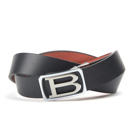 Van letters Track Belt // Black