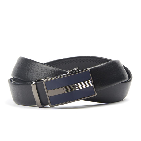 Accent Track Belt // Black + Blue