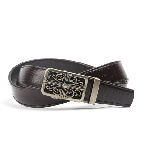 CREST Track Belt // Dark Brown Snake