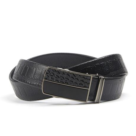 Snake Geweven Track Belt // Black