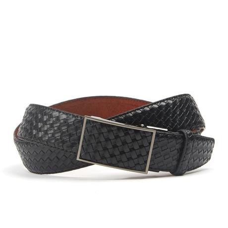 Woven Track Belt // Black