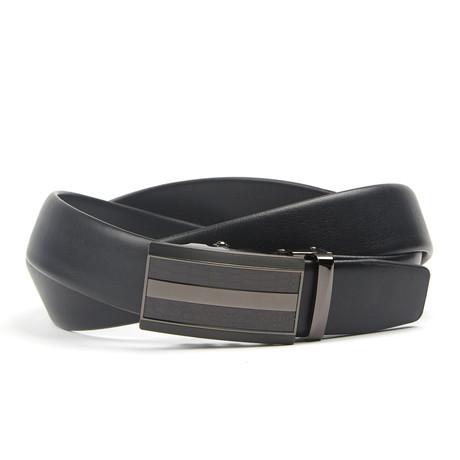 Accent Track Belt // Black Stripe