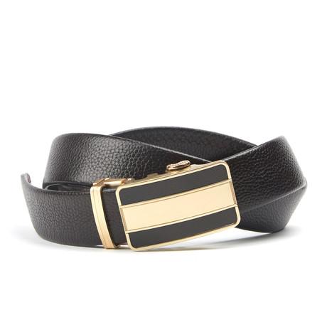 Bar Track Belt // Black + Gold