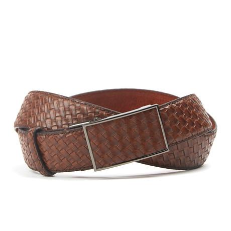 Woven Track Belt // Light Brown