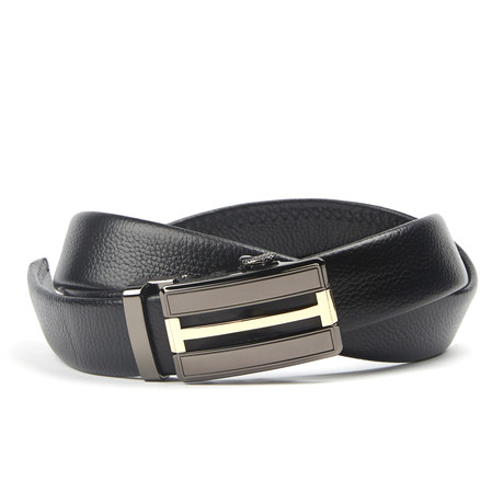 Mixed Track Belt // Black + Gold + Silver