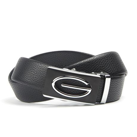 Geweven Accent Track Belt // Black