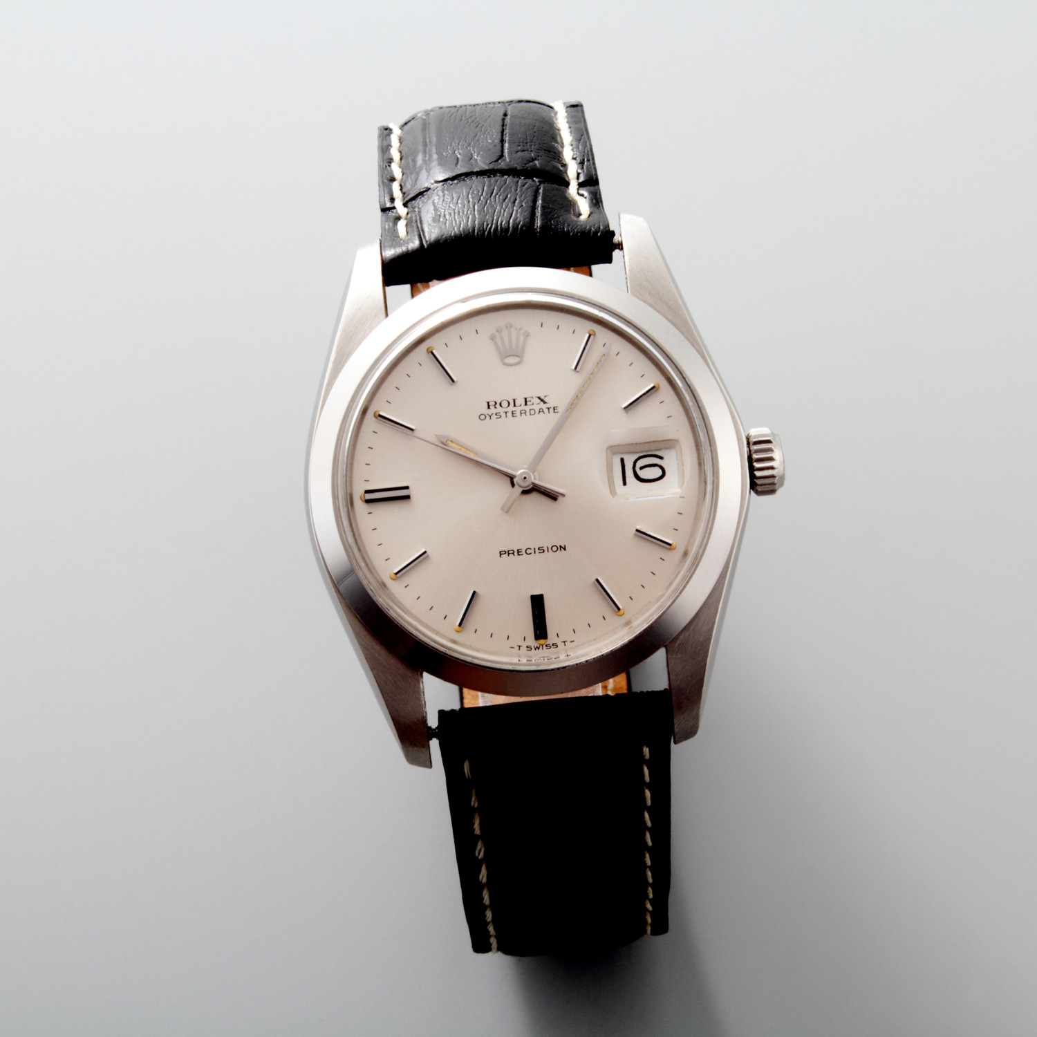 rolex oysterdate precision manual wind 32269 pre owned vintage watches. Black Bedroom Furniture Sets. Home Design Ideas