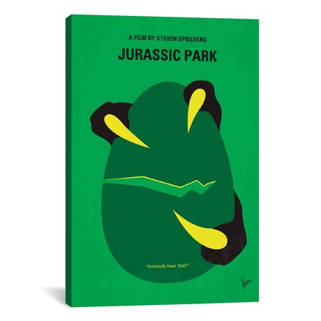 "Jurassic Park Minimal Movie Poster // Chungkong (26""W x 40""H x 1.5""D)"