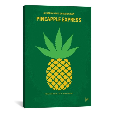 "Pineapple Express // Minimal Movie Poster // Chungkong (26""W x 18""H x 0.75""D)"