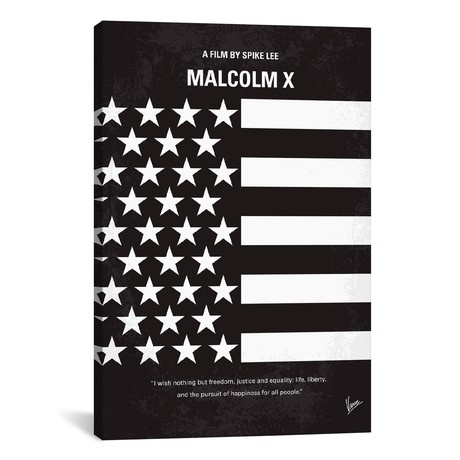 "Malcolm X (18""W x 26""H x 0.75""D)"