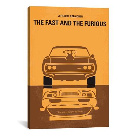 "The Fast And The Furious (18""W x 26""H x 0.75""D)"