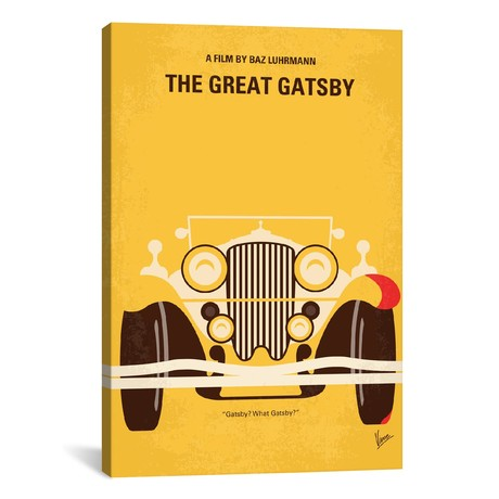 "The Great Gatsby // Minimal Movie Poster // Chungkong (26""W x 18""H x 0.75""D)"