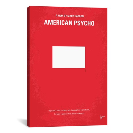 "American Psycho (18""W x 26""H x 0.75""D)"