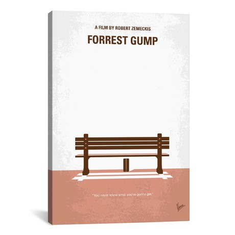 """Forrest Gump Minimal Movie Poster // Chungkong (26""""W x 40""""H x 1.5""""D)"""