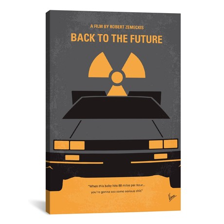 "Back To The Future Minimal Movie Poster // Chungkong (12""W x 18""H x 0.75""D)"