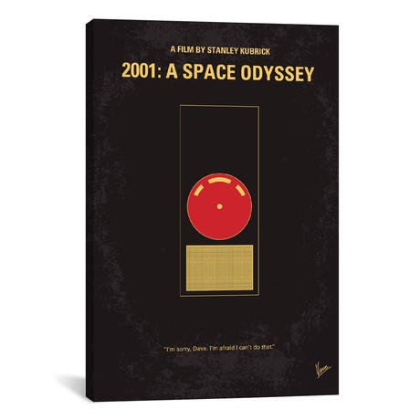 "2001: A Space Odyssey (18""W x 26""H x 0.75""D)"