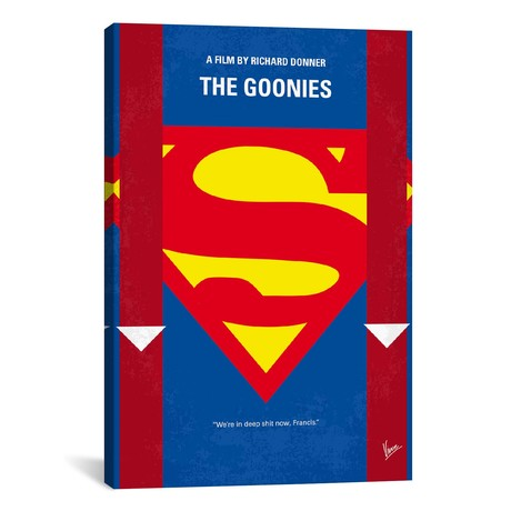 "The Goonies Minimal Movie Poster // Chungkong (26""W x 40""H x 1.5""D)"