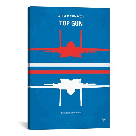 "Top Gun Minimal Movie Poster // Chungkong (12""W x 18""H x 0.75""D)"