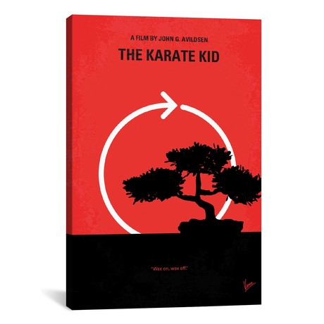 "Karate Kid Minimal Movie Poster // Chungkong (26""W x 40""H x 1.5""D)"