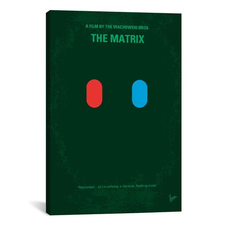 "The Matrix // Which Pill Do You Choose? (18""W x 26""H x 0.75""D)"