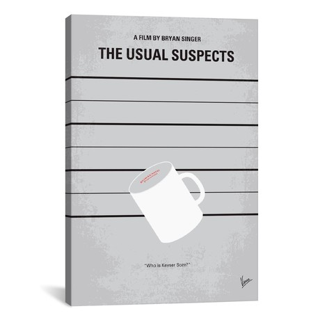"""The Usual Suspects (18""""W x 26""""H x 0.75""""D)"""