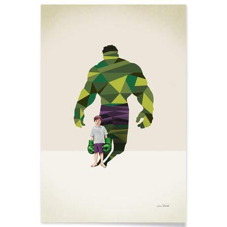 "Green Tantrum (16""W x 24""H x .045""D // Aluminum Print)"