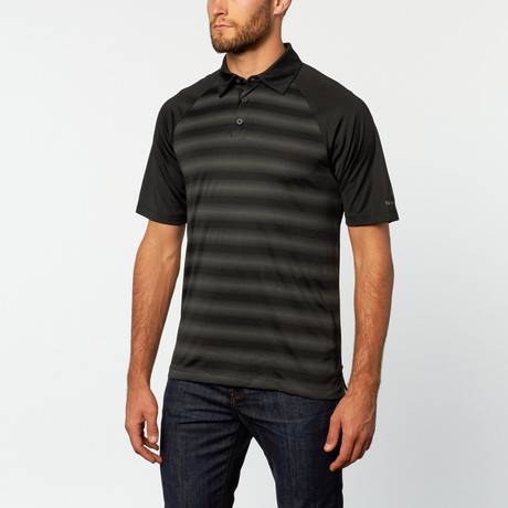 Stripe performance polo black s mercedes benz for Mercedes benz shirts and clothing