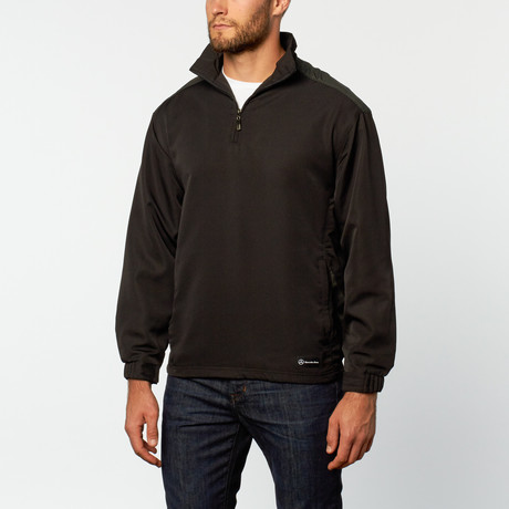 Quarter zip windshirt black s mercedes benz for Mercedes benz wear