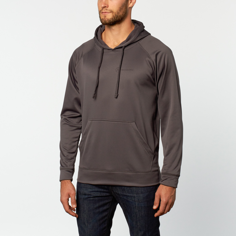 sport fleece pullover hoodie grey s mercedes benz. Black Bedroom Furniture Sets. Home Design Ideas