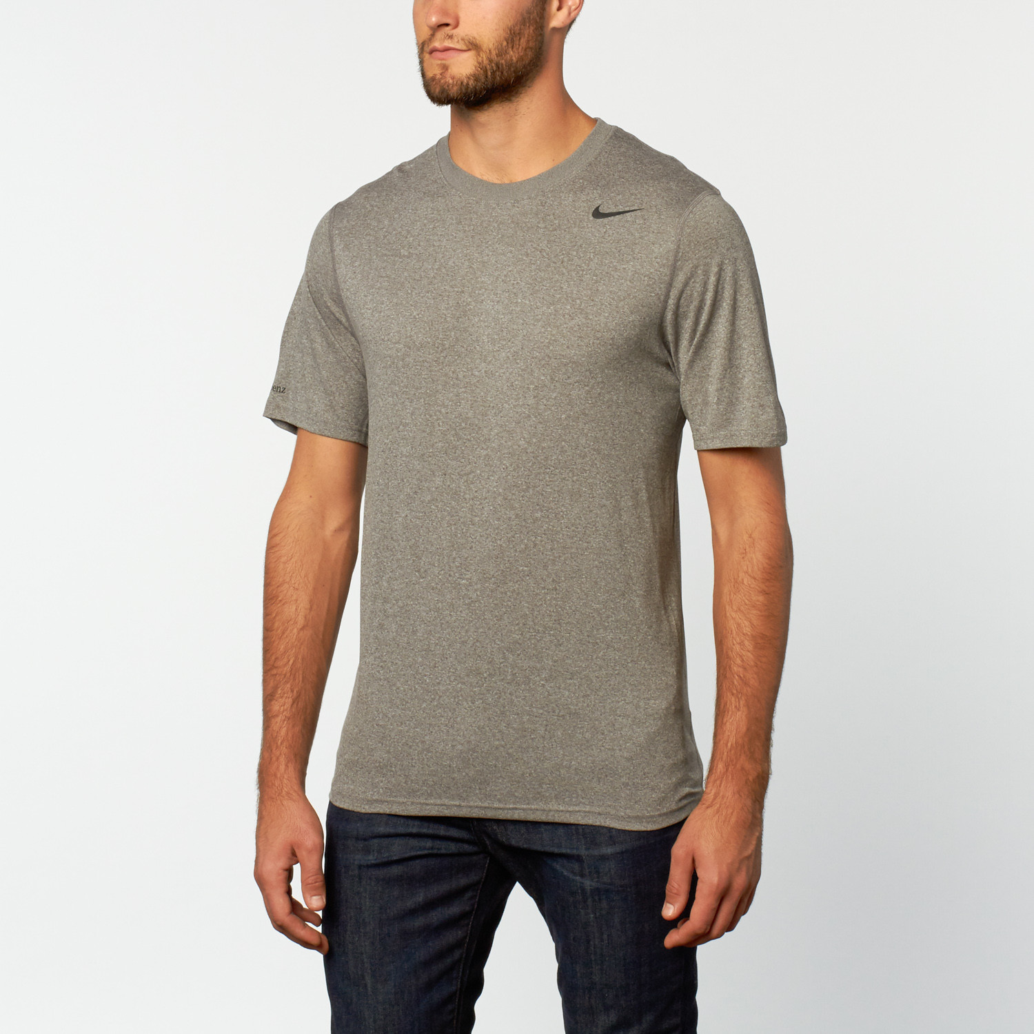 Nike performance training tee grey s mercedes benz for Mercedes benz wear