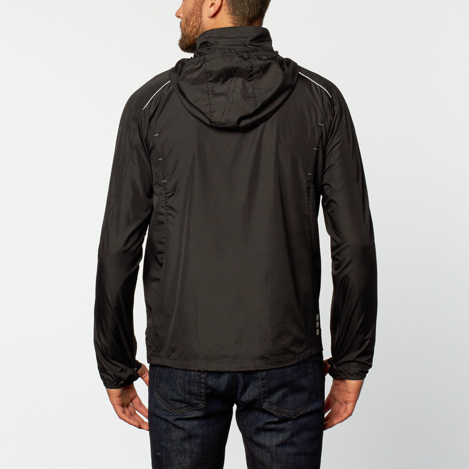 Rain jacket black s mercedes benz clothing touch for Mercedes benz wear